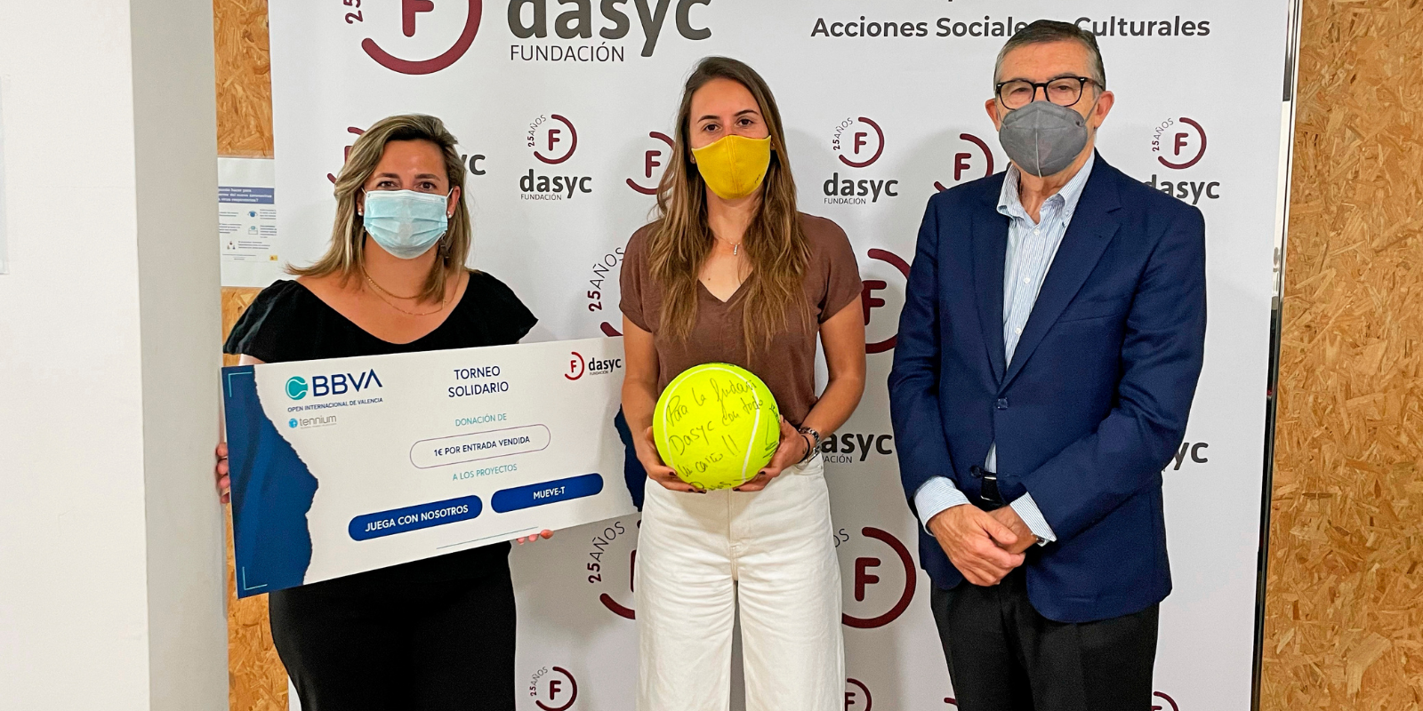 THE BBVA INTERNATIONAL OPEN OF VALENCIA WILL DONATE ONE EURO FROM EACH TICKET SOLD TO THE DASYC FOUNDATION